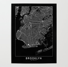 Brooklyn Map Poster
