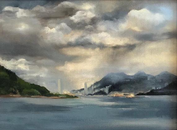 """Alicia Van Thiel - """"From a Distance, Lantau Island, Studio view"""" - Original"""