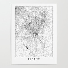 Albany Map Poster