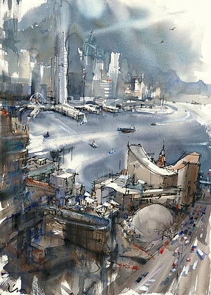 "Lisa Huang - ""Our Bustling Harbour"" - Original"