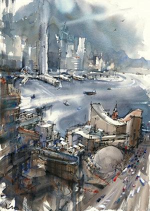 """Lisa Huang - """"Our Bustling Harbour"""" - Original"""