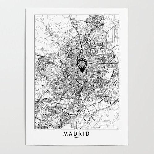 Madrid Custom Map