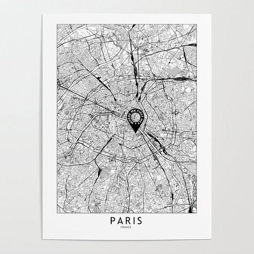 Paris Custom Map