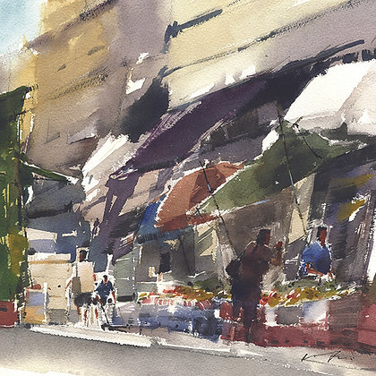 """Wu Jianzhong - """"Elgin Street"""" - Signed Limited Edition of 25"""