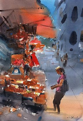 """Wu Jianzhong - """"Evening Glow"""" - Original"""