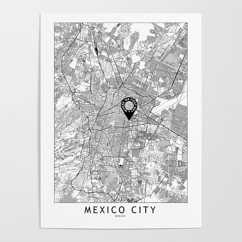 Mexico City Custom Map