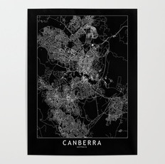 Canberra Map Poster