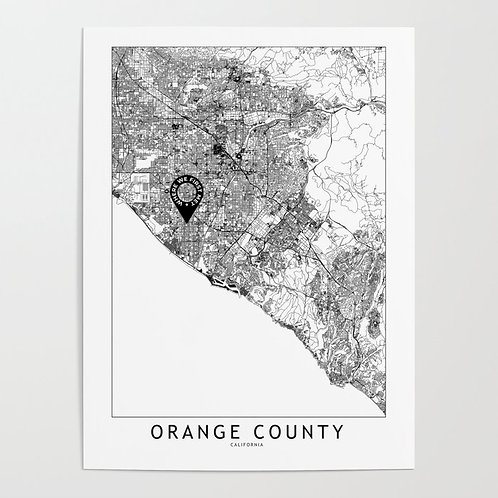 Orange County Custom Map