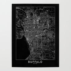 Buffalo Map Poster