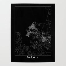 Darwin Map Poster