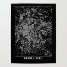 Bengaluru Map Poster