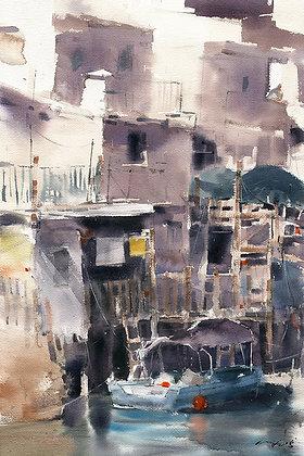 """Wu Jianzhong - """"Home In Tai O"""" - Original"""