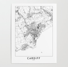 Cardiff Map Poster