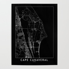 Cape Canaveral Map Poster