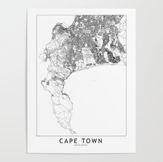 Cape Town Map Poster