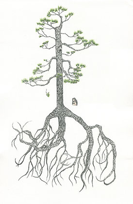 "Michelle Kuen Suet Fung  - ""Into The Woods XVII: Fallen Pine"""
