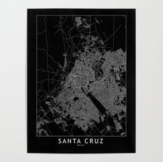 Santa Cruz Map Poster