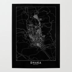 Dhaka Map Poster