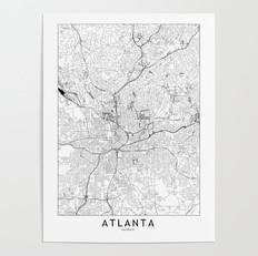 Atlanta Map Poster