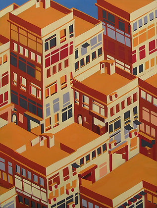 "Alex Croft - ""Geometric Rooftops"" - Original"