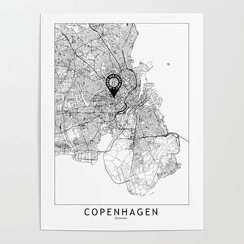 Copenhagen Custom Map