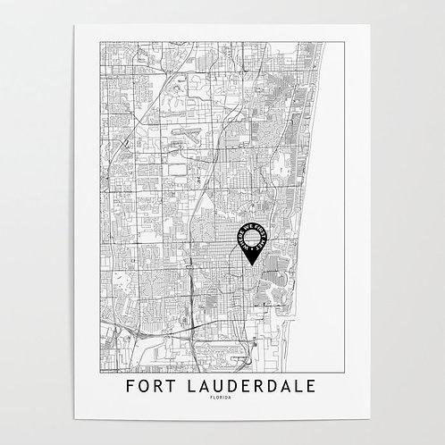 Fort Lauderdale Custom Map