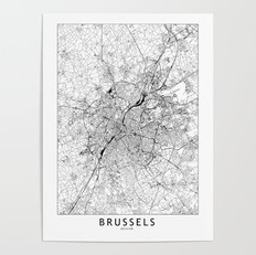 Brussels Map Poster