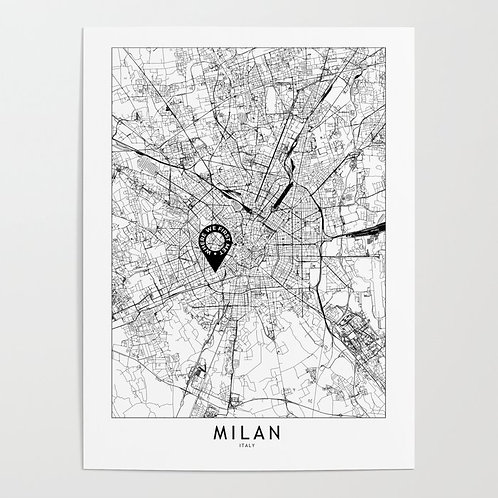 Milan Custom Map