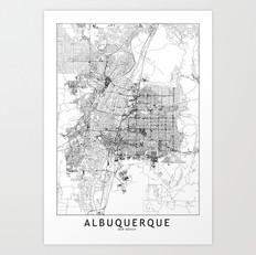 Albuquerque Map Art Print