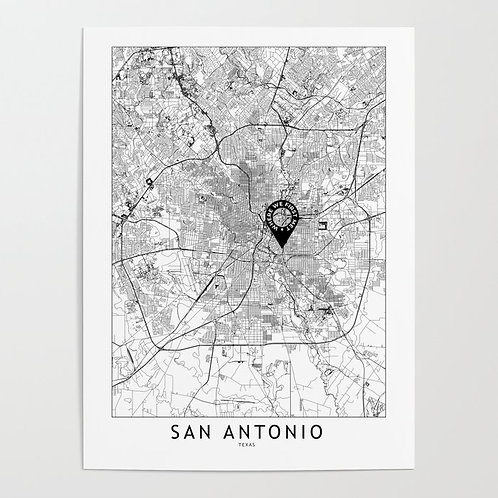 San Antonio Custom Map