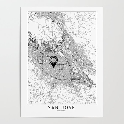 San Jose Custom Map