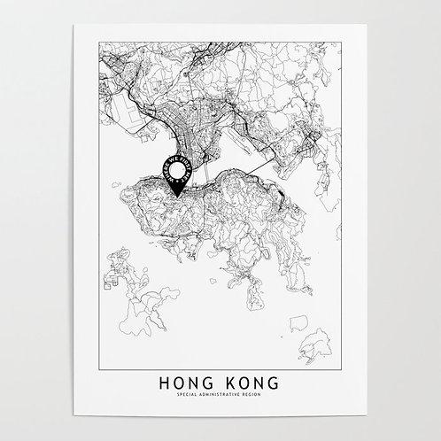 Hong Kong Custom Map