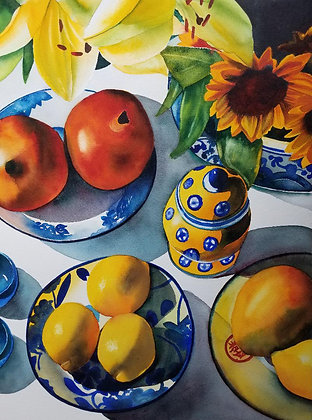 "Sarah Bent - ""Yellow Jar"" - Original"