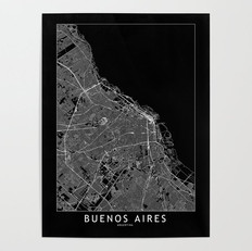 Buenos Aires Map Poster