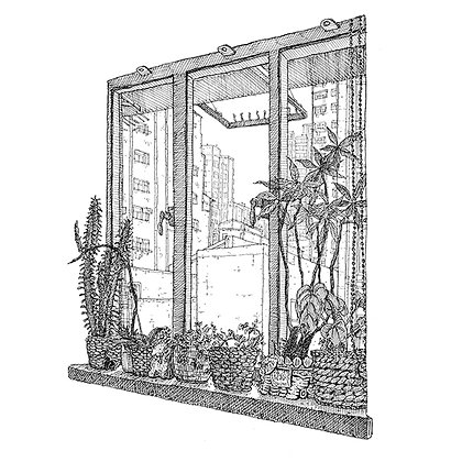 "The Ink Trail - ""North Point Window"" - Signed Limited Edition of 25"