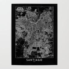 Santiago Map Poster