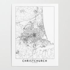 Christchurch Map Poster