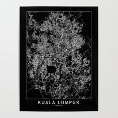 Kuala Lumpur Map Poster