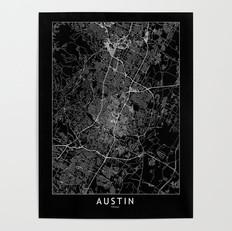 Austin Map Poster