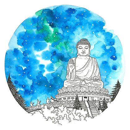 """The Quiet Place - """"The Big Buddha"""" - Signed Limited Edition of 25"""