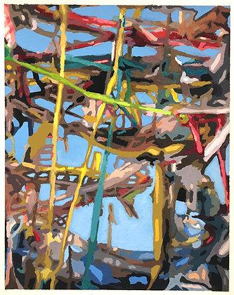 "Eric Niebuhr - ""TPC No.9 (Study)"" - Original"
