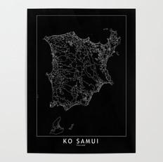 Ko Samui Map Poster