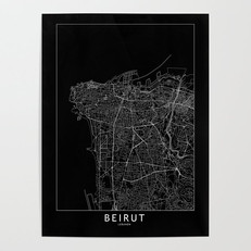 Beirut Map Poster
