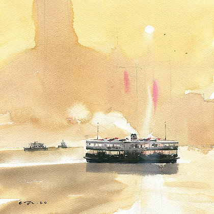 "Wu Jianzhong - ""Haze Harbour"" - Signed Limited Edition of 25"