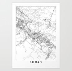 Bilbao Map Art Print