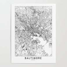 Baltimore Map Poster