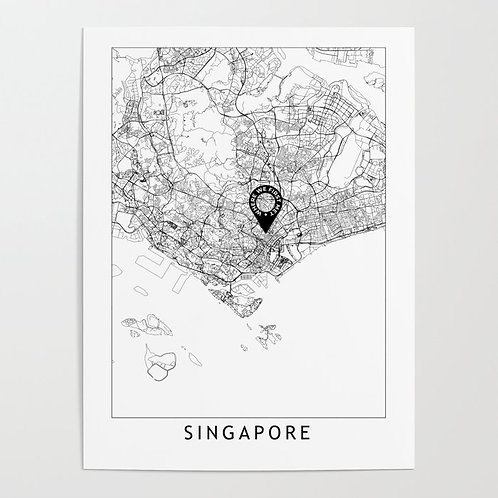 Singapore Custom Map