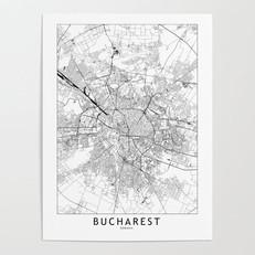 Bucharest Map Poster