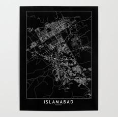 Islamabad Map Poster