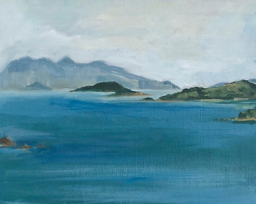 "Alicia Van Thiel - ""Hong Kong Island in the Mist"" - Origin"